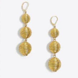 NWT J.Crew Triple Lantern Dangle Earrings Gold